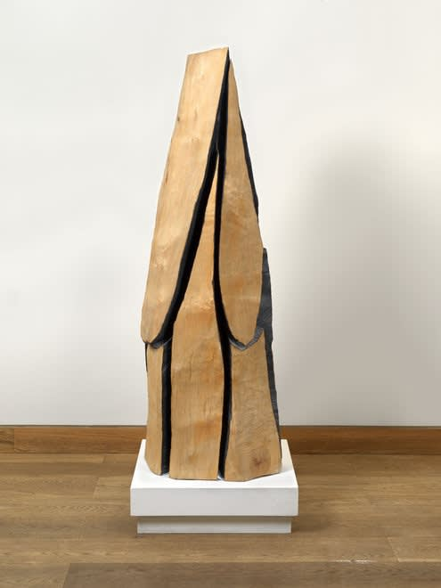 David NASH, OBE, RA (b.1945) Deep Cut Column, 2003 Partially charred Sycamore 52 x 17 ½ x 19 ½ inches / 134 x 45 x 50 cm