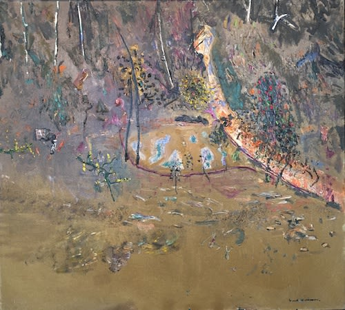 Fred WILLIAMS, OBE (1927 -1982) Water and Acacias, 1977 Oil on canvas 38 1⁄8 x 42 1⁄8 inches / 97 x 107 cm Signed lower right