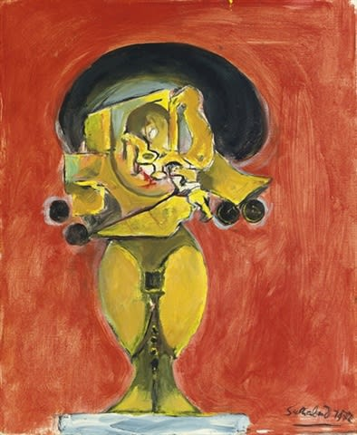 Graham SUTHERLAND (1903 – 1980) Standing Rock Form, 1972 Oil on canvas 183/4 x 15 ½ inches / 47.3 x 39.2 cm