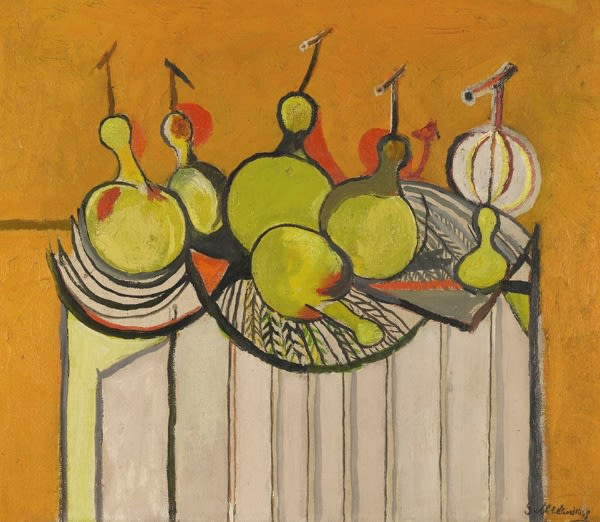 Graham SUTHERLAND (1903 – 1980) Still Life with Gourds, 1948 Oil on canvas 19 x 21 ¼ inches / 48 x 54 cm Signed and dated, titled on the stretcher