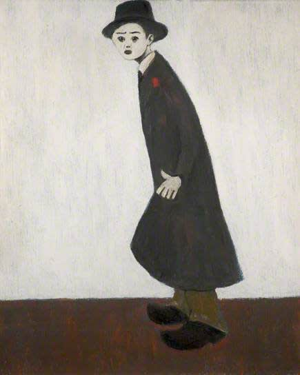 L.S. LOWRY (1887 – 1976) Man in a Trilby, 1960 Oil on board 32 . x 19 . inches / 81.9 x 49.5 cm