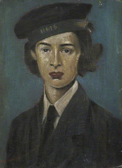 L.S. LOWRY (1887 – 1976) Portrait of a WREN, Undated Oil on board 11 . x 8 . inches / 29.8 x 21.5 cm