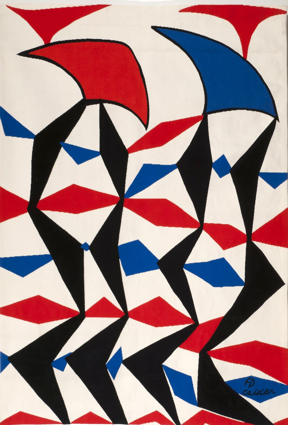 Alexander CALDER (1898 – 1976) L'Etoffe Tapestry made for the artist by Pinton Aubusson in an edition of 6 plus 2 artists proofs 75 6/8 x 52 ½ inches / 192 x 133 cm Signed and stamped