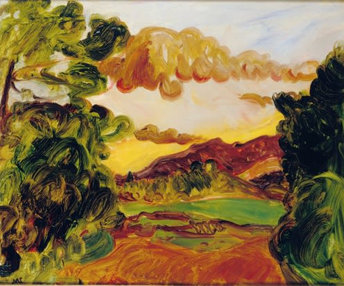 Landscape with Clouds, c.1933 oil on canvas 21 ½ x 25 ½ inches (55x 65cm) Inscr. verso MS b.l.