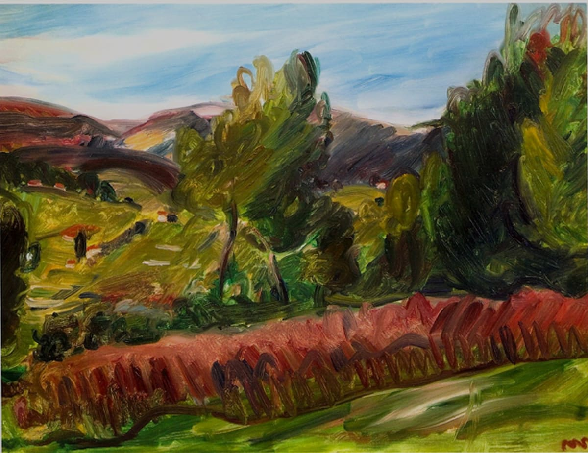 Landscape, South of France, c.1936 oil on canvas 18 x 24 inches (46 x 61cm) inscr. MS b.r.