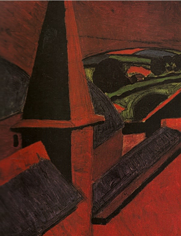 Steeple in Cornwall, 1920 oil on canvas 20 x 15.5 inchces (50.8 x 39.3cm)