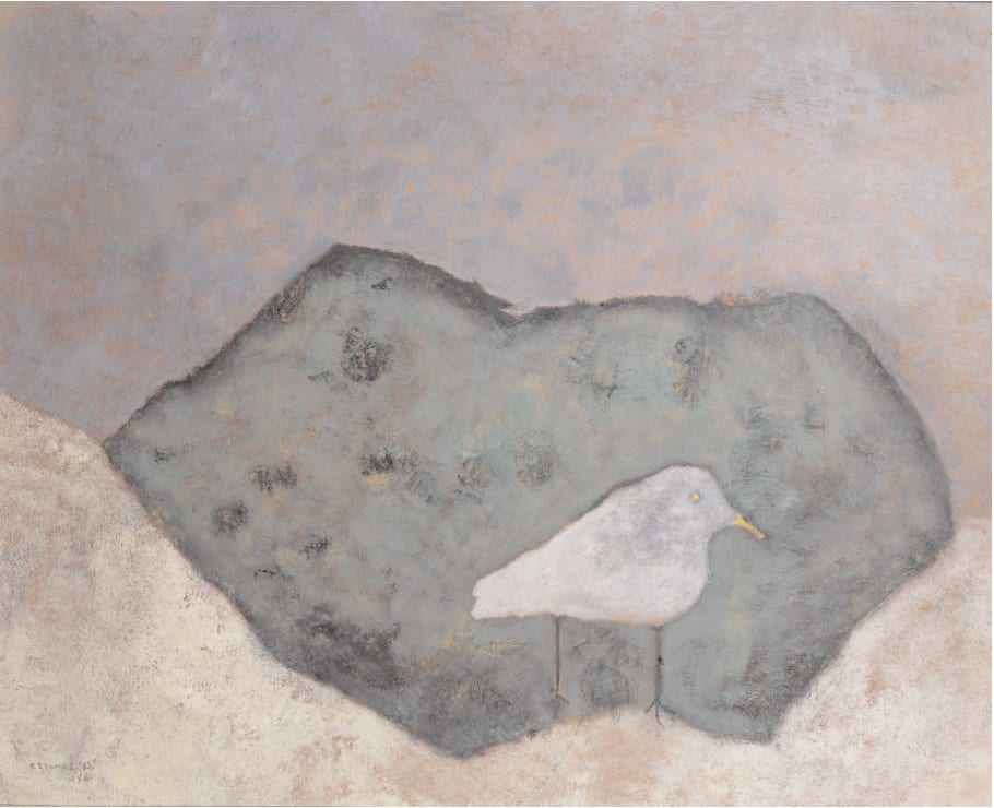 Little Bird on a Rock, 1945 Oil on masonite 24 x 30 ins (61 x 76 cm)