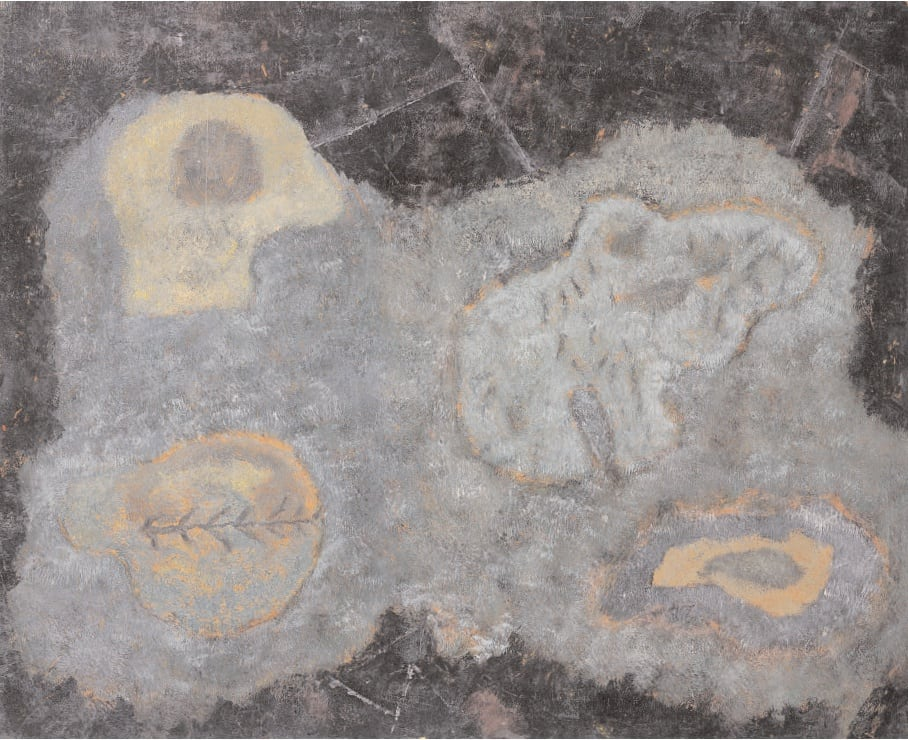 Abstract Composition, 1946/56 Oil on masonite 16 x 19. ins (40.5 x 50 cm)