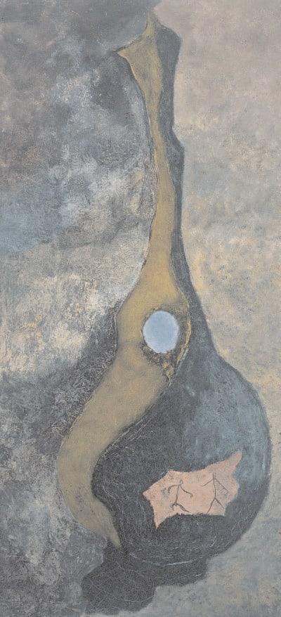 Granite Shore, 1946 Oil on masonite 38 x 18 ins (96.5 x 46 cm)