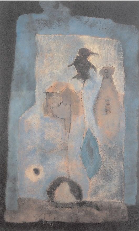 Ascent for Ritual, 1947 Oil on masonite 39 x 23. ins (99 x 60.5 cm)
