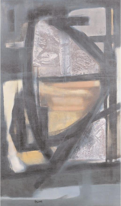 Composition, c. 1950 Oil on canvas 53 x 31. ins (135 x 80 cm)