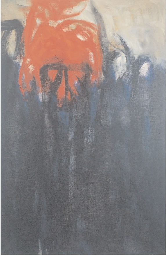 Untitled (Columns of Fire), 1959 Oil on canvas 48 x 32 ins (122 x 81 cm)