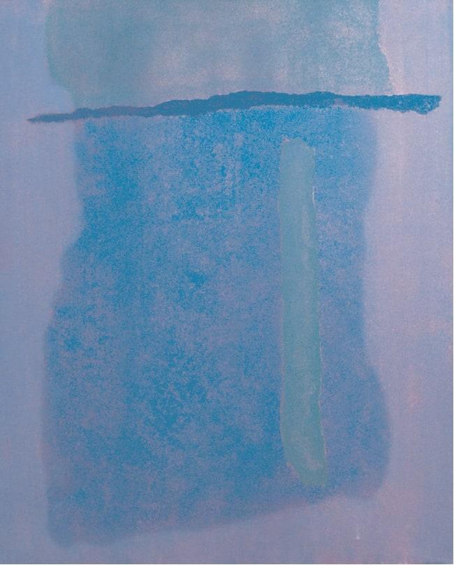 Infinity Field, Lefkada Series, 1977 Oil on canvas 30 x 24 ins (76 x 61 cm)