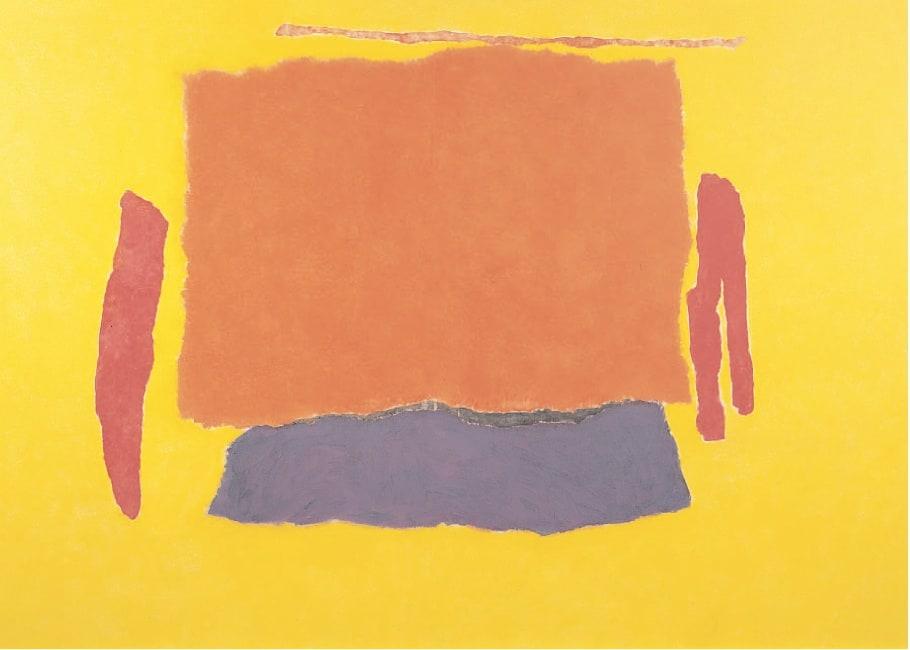 Infinity Field, Lefkada Series VI, 1978 Oil on canvas 49. x 72 ins (125 x 183 cm)