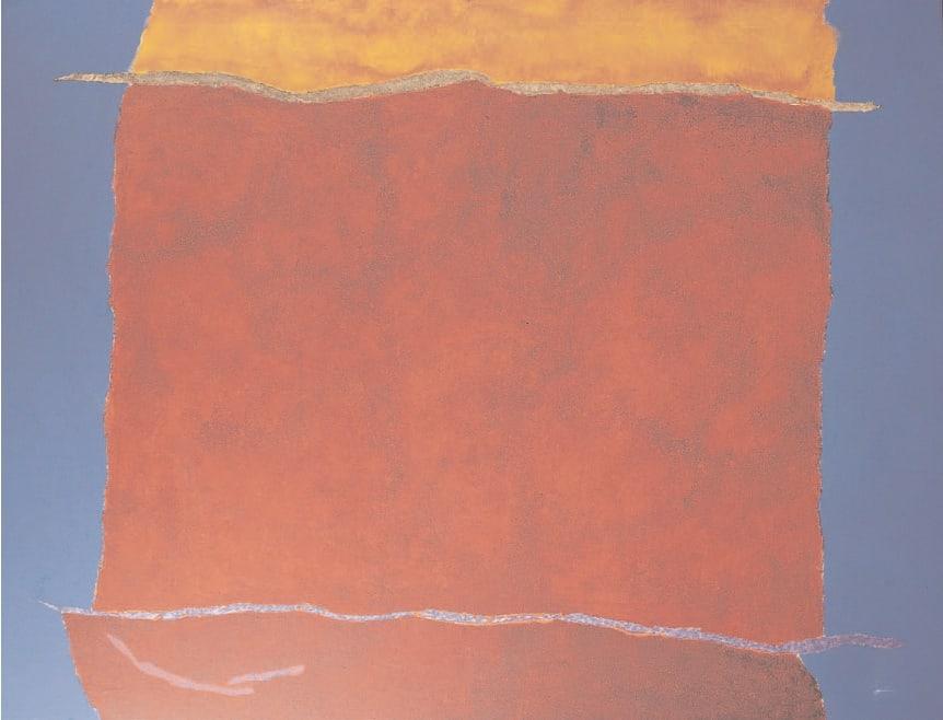 Infinity Field, Lefkada Series 15c, 1979 Acrylic on linen 50. x 66 ins (127 x 168 cm)