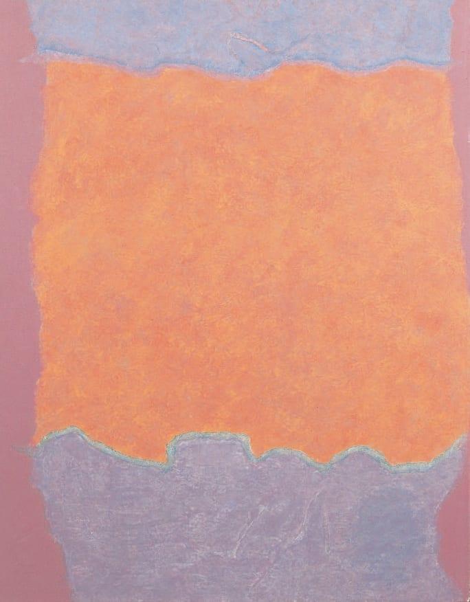 Infinity Field, Lefkada Series, 1980 Oil on canvas 38. x 30 ins (98.5 x 76 cm)