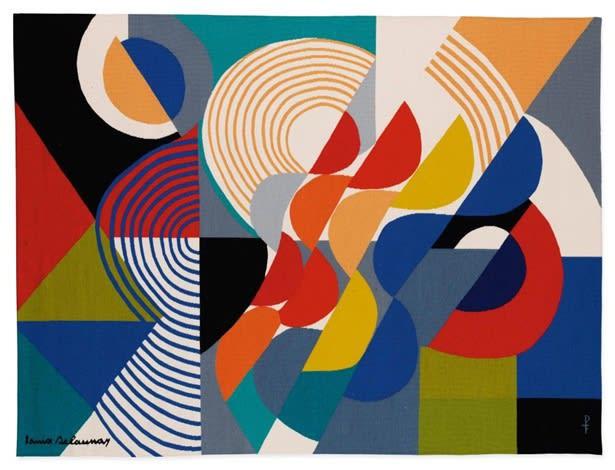 Sonia Delaunay, Rhythmes Ondulatoires, c.1970