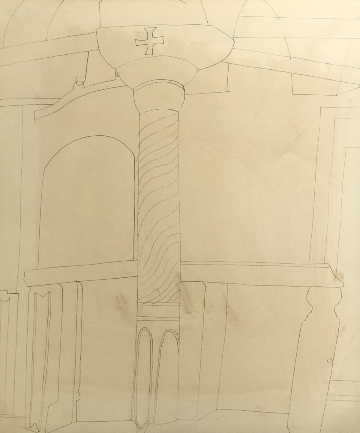 Ben Nicholson, 1967 (pillar in monastery at Patmos), 1967
