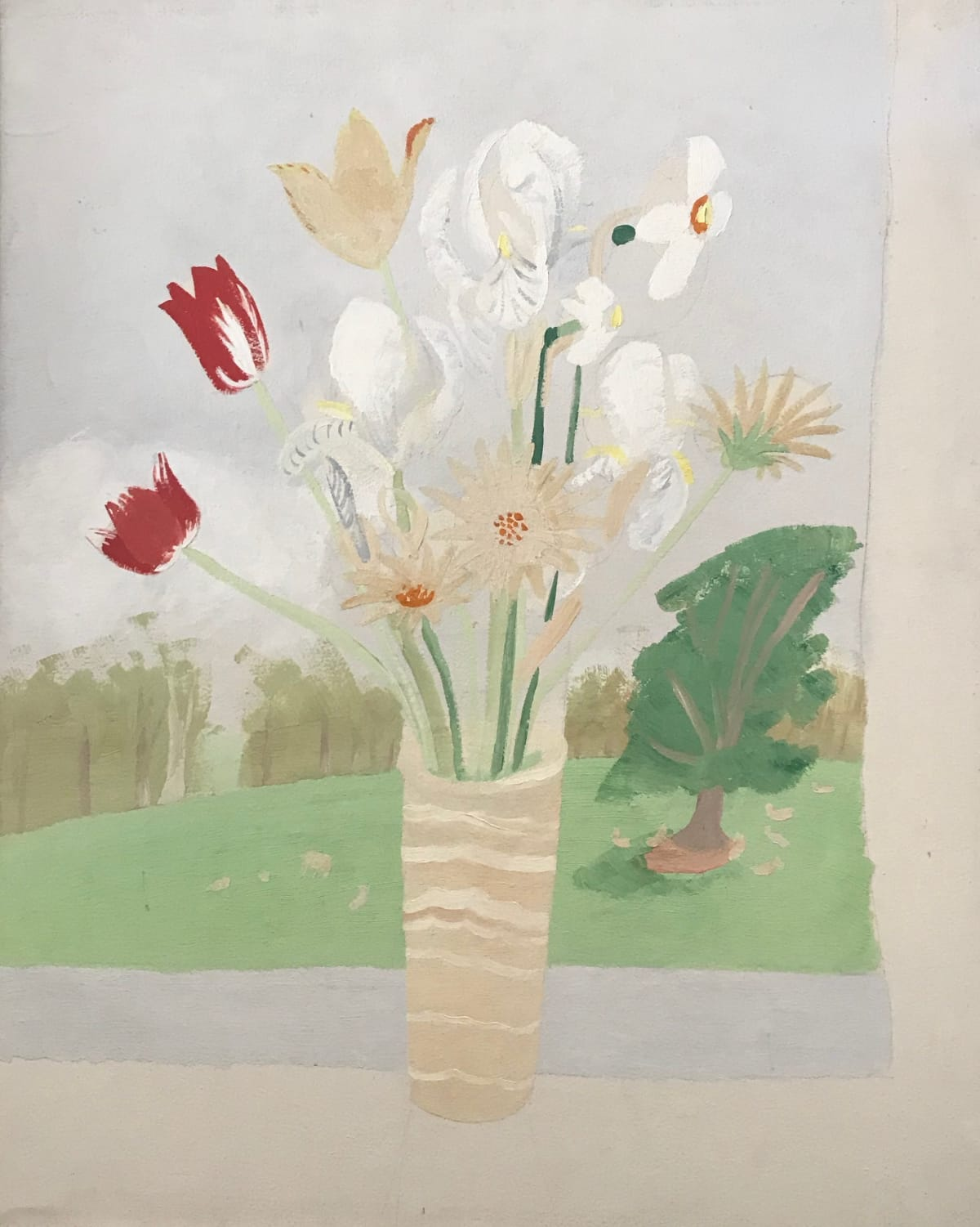 Winifred Nicholson, Leopards Bane and Iris, c.1928