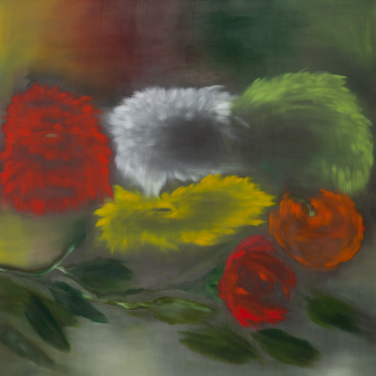 Ross Bleckner, Untitled (Red/Green), 2013
