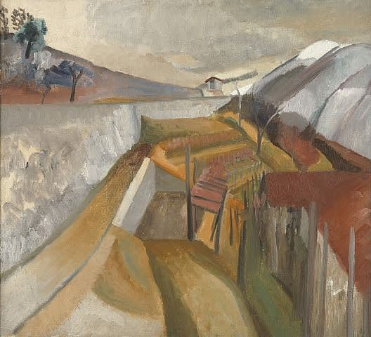 Ben Nicholson, 1923 (vineyard in winter), 1923