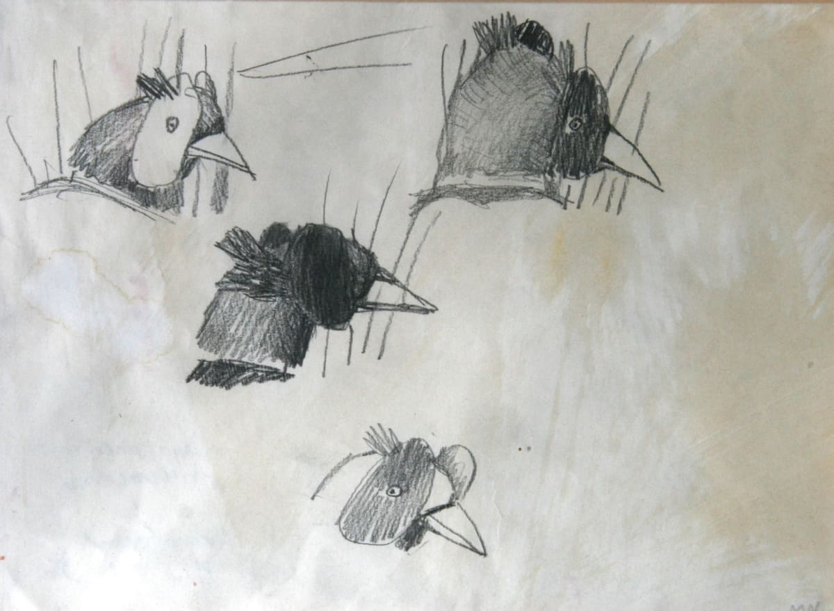Mary Newcomb, Study of Pheasants, 1994