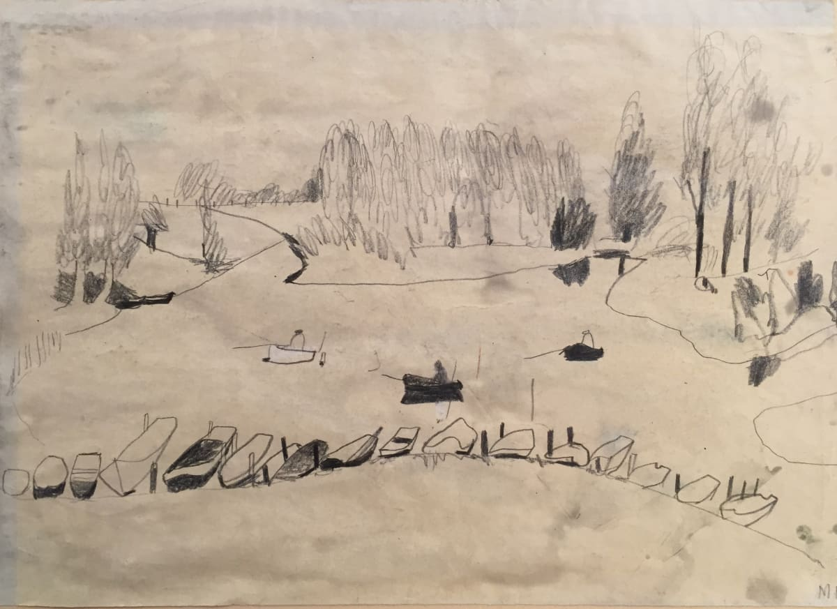 Mary Newcomb, The Fishermans lake near Leerdam, Holland