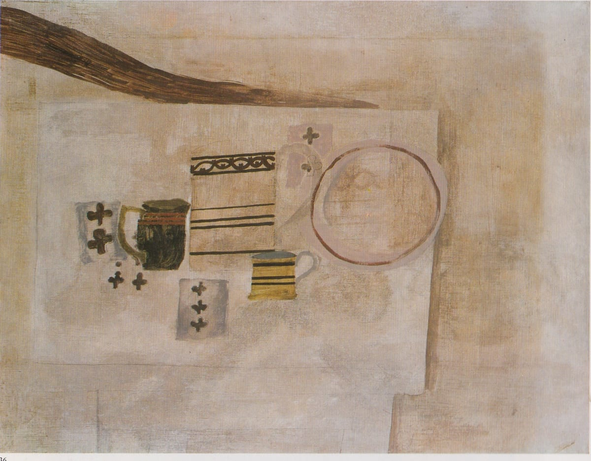 Ben Nicholson, Still Life, Jug and Playing Cards, 1929