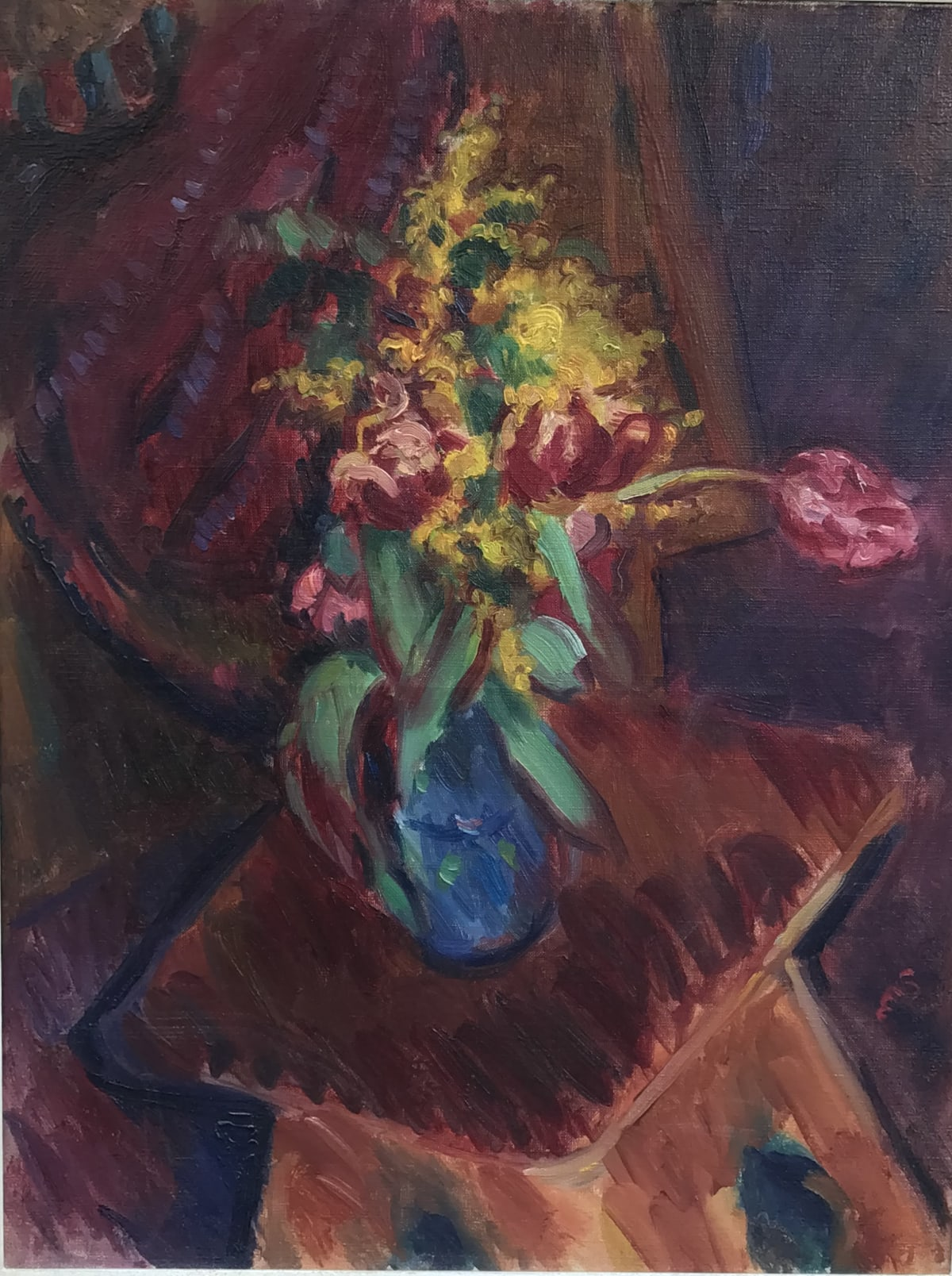 Sir Matthew Smith, Red Tulips in a Blue Vase, 1926