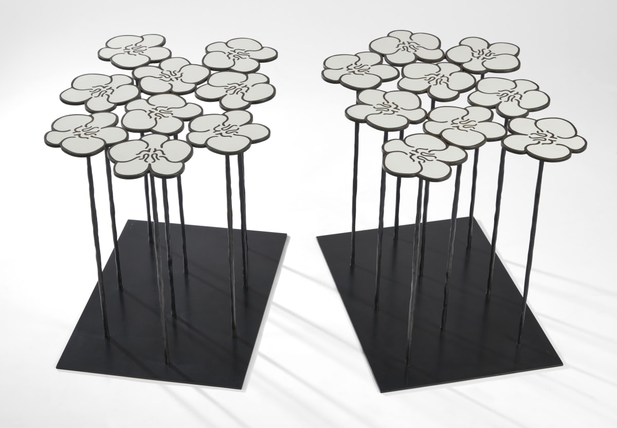 Hubert Le Gall, Orchids 2 x 9 Flowers Tables, 2017