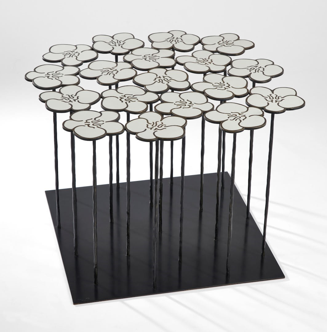 Hubert Le Gall, Orchids 18 Flowers Table, 2017
