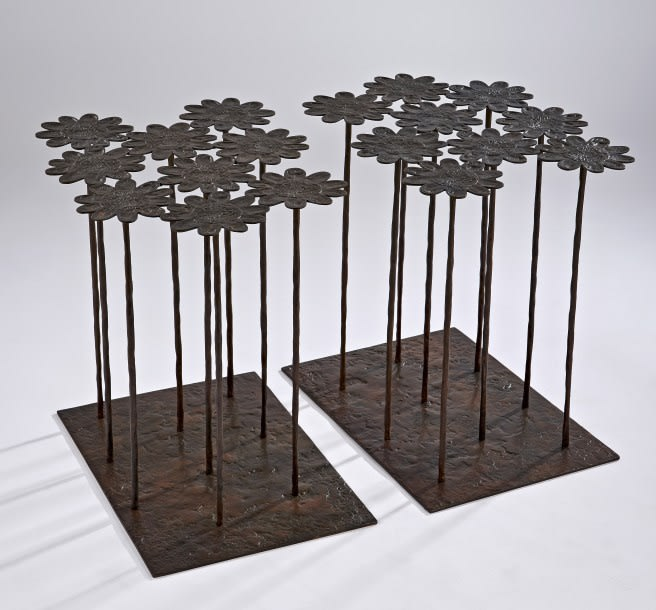Hubert Le Gall, Anthemis 2 x 9 Flowers Tables, 2012