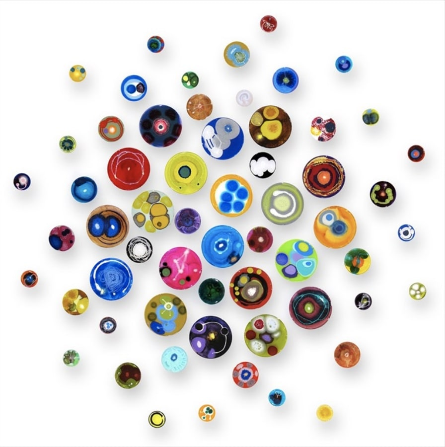 "Klari Reis's ""Hypochondria Exploding, 60 pieces"" | Top Ten Selections From Campion Platt | Hamptons Virtual Art Fair"