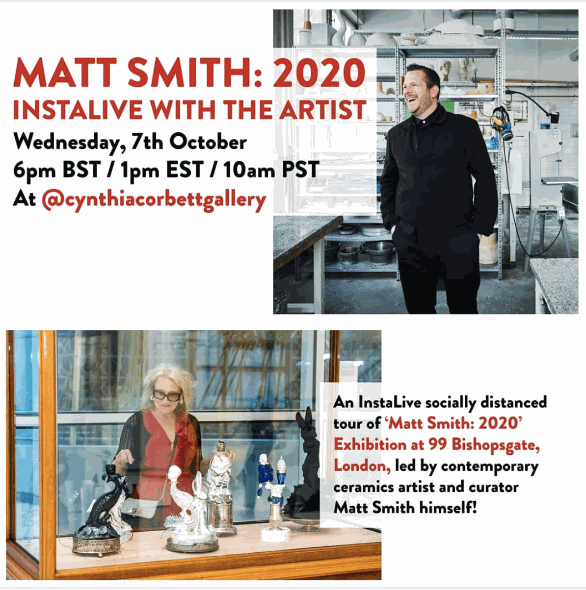 WATCH MATT SMITH: 2020 INSTALIVE WITH THE ARTIST