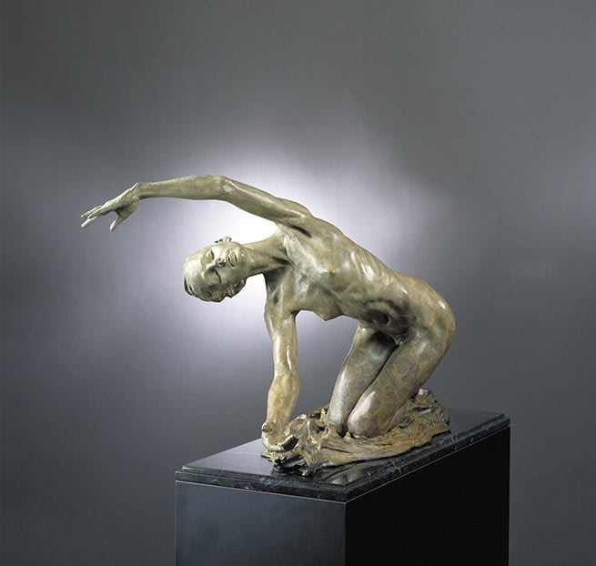 "Richard MacDonald Dawn the Awakening, 1993 Bronze 15.5""H x 19.5""W x 24""D"
