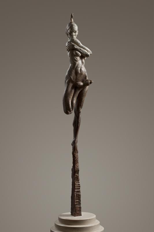 "Richard MacDonald Contemporary Nude Spire II - Essence, 2012 Bronze 38.5""H x 10""W x 10""D"