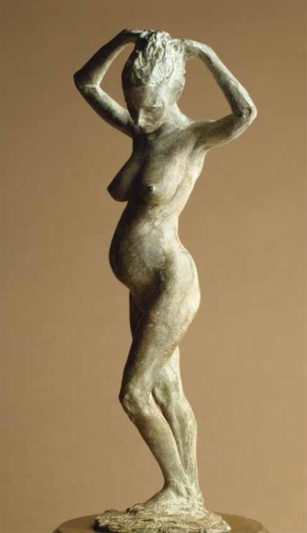 "Richard MacDonald Mother & Child, 1999 Bronze 18""H x 8""W x 8""D"