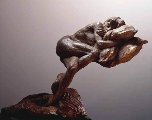 """Richard MacDonald Pillows, 1996 Bronze 11.5""""H x 14.5""""W x 15""""D"""
