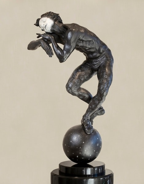 "Midnight (Sleep, Quarter Life), Blanc Noir, 2010 Bronze 17"" H x 9"" D x 8"" W Richard MacDonald"