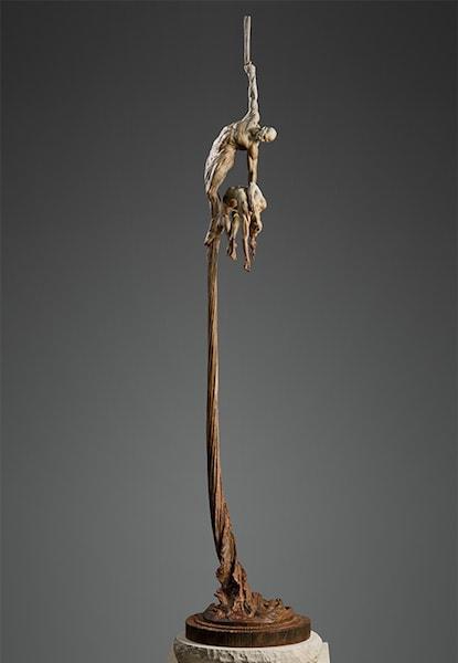 "Orpheus Ascending, Third Life, 2014 Bronze 76""H x 23""W x 23""D Richard MacDonald"