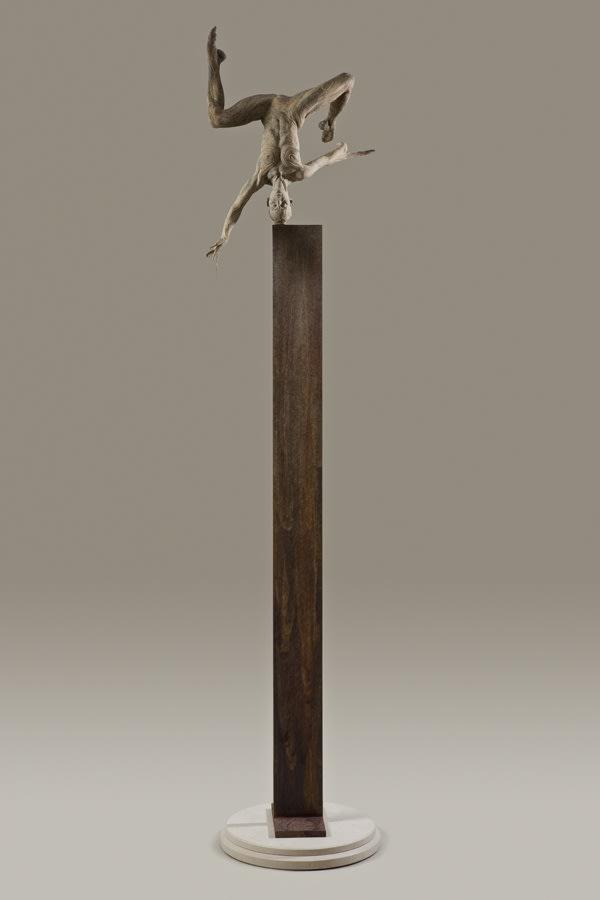 """O-Anja I Column, 2009 Bronze 68""""H x 16""""W x 16""""D Richard MacDonald"""