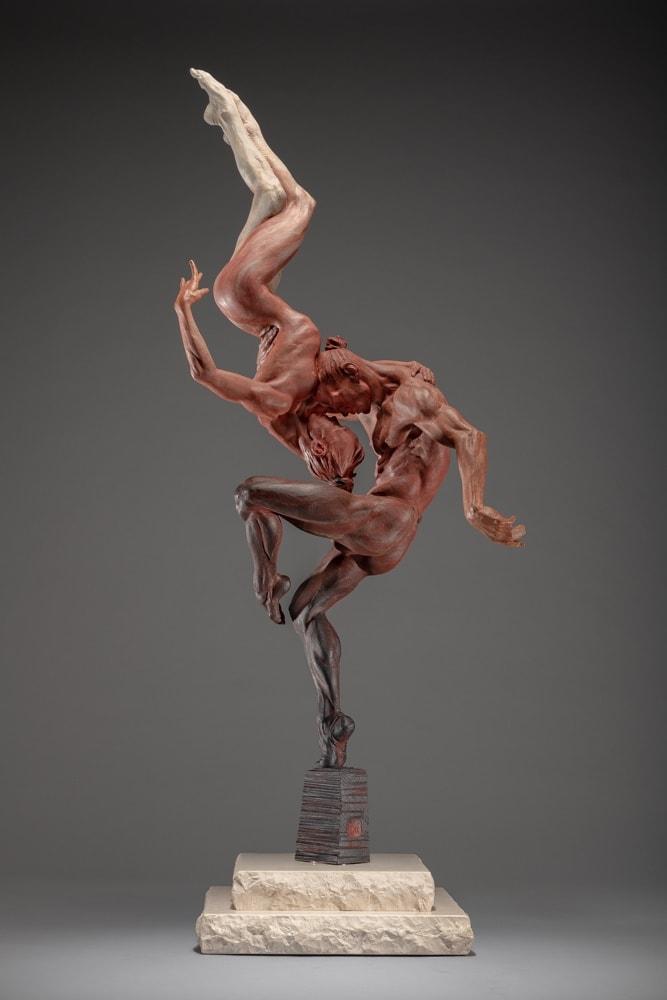 """Yin & Yang, Third Life, 2014 Bronze 45""""H x 17.5""""W x 12""""D Richard MacDonald"""