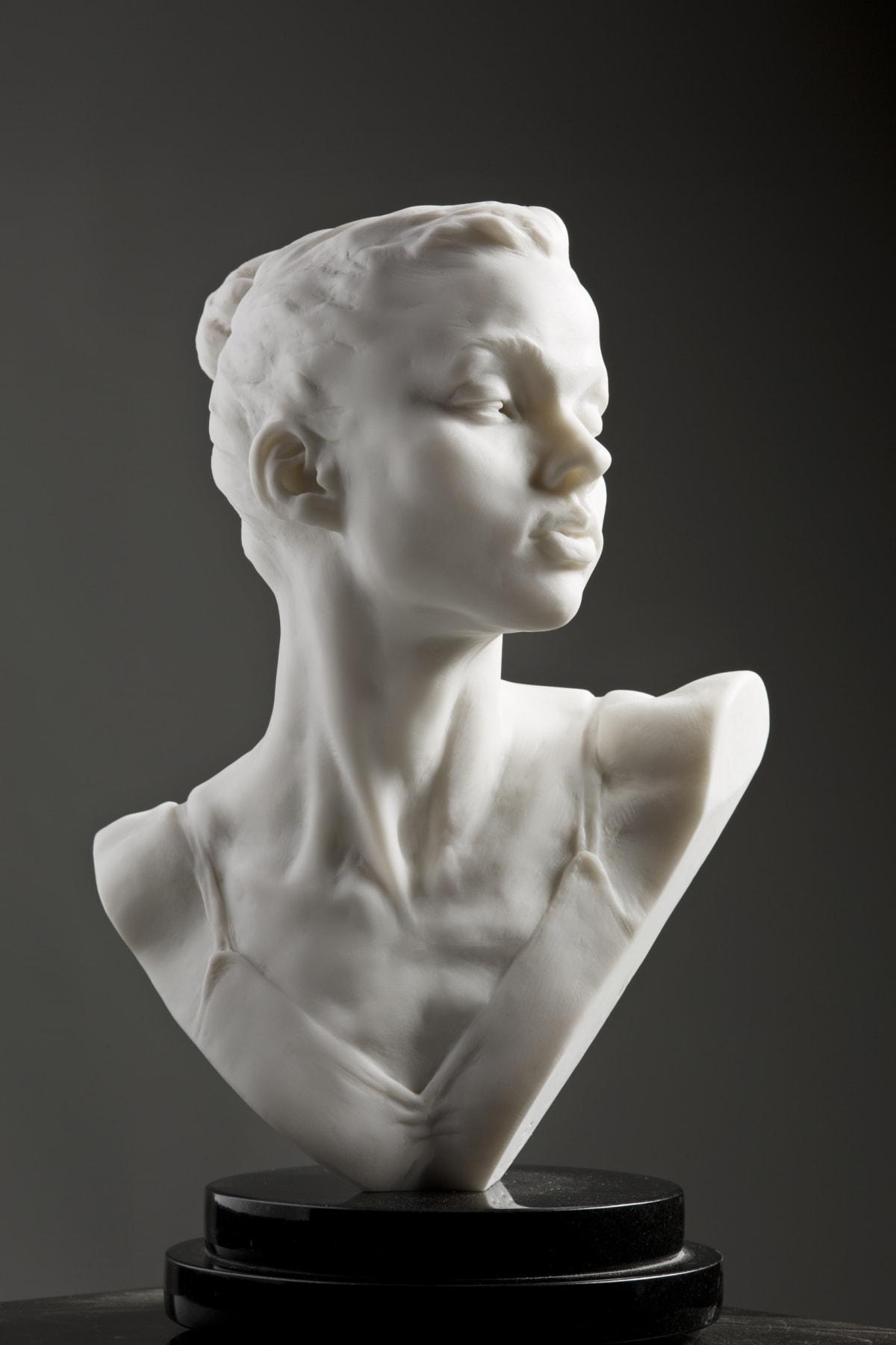 "Katherine Bust, Atelier, Marble Resin, 2017 Bronze 15""H x 10""W x 6""D Richard MacDonald"