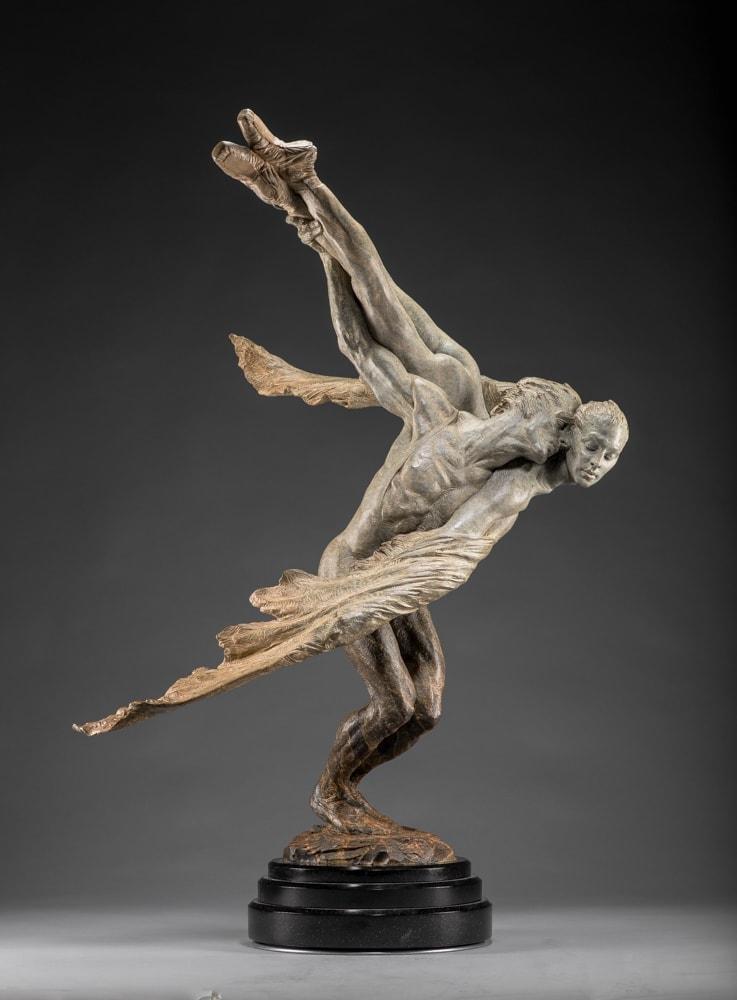 """Doves, Half Life, 1990 Bronze 41.5""""H x 21""""W x 28""""D Richard MacDonald"""