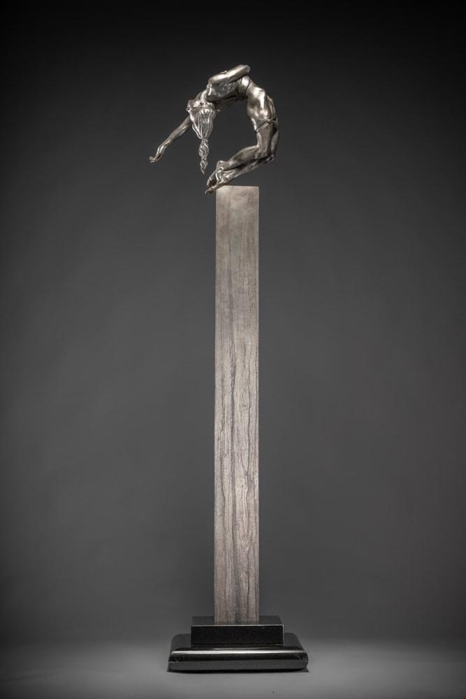 """Eurydice III Column, 2011 Platinum 63""""H x 16""""W x 17""""D Richard MacDonald"""