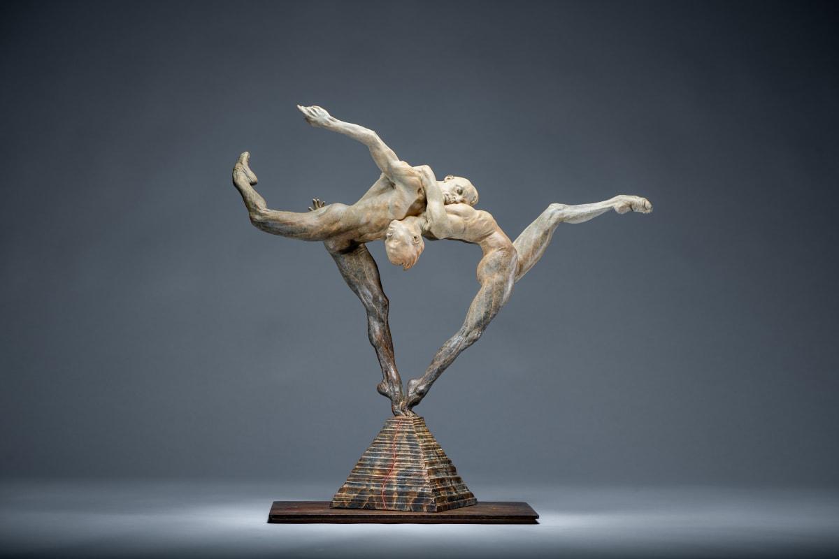 "Dance to Paradiso, 2015 Bronze 25""H x 26""W x 12""D Richard MacDonald"