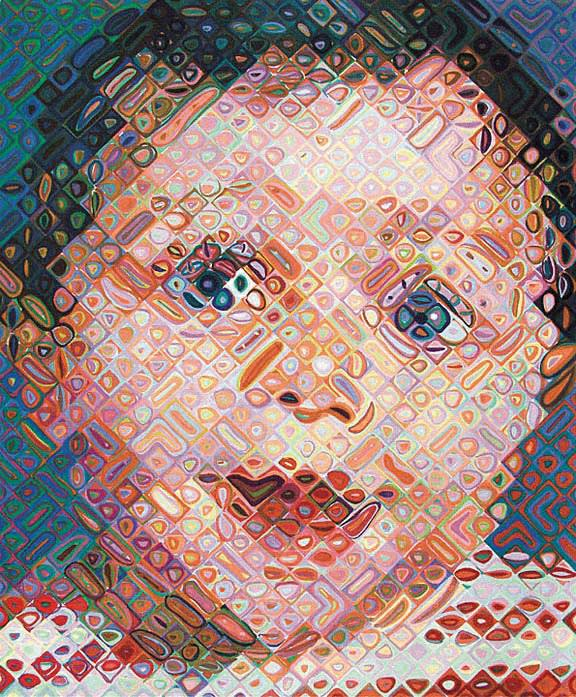 Chuck Close Emma, 2002