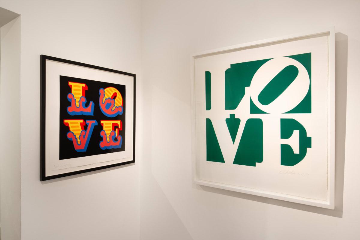 Ben Eine Robert Indiana Love Greenpeace Limited Edition Screenprint Dellasposa Gallery