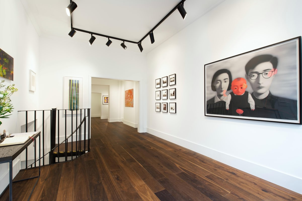 Zhang Xiaogang Gerhard Richter Bridget Riley Damien Hirst Dellasposa Gallery