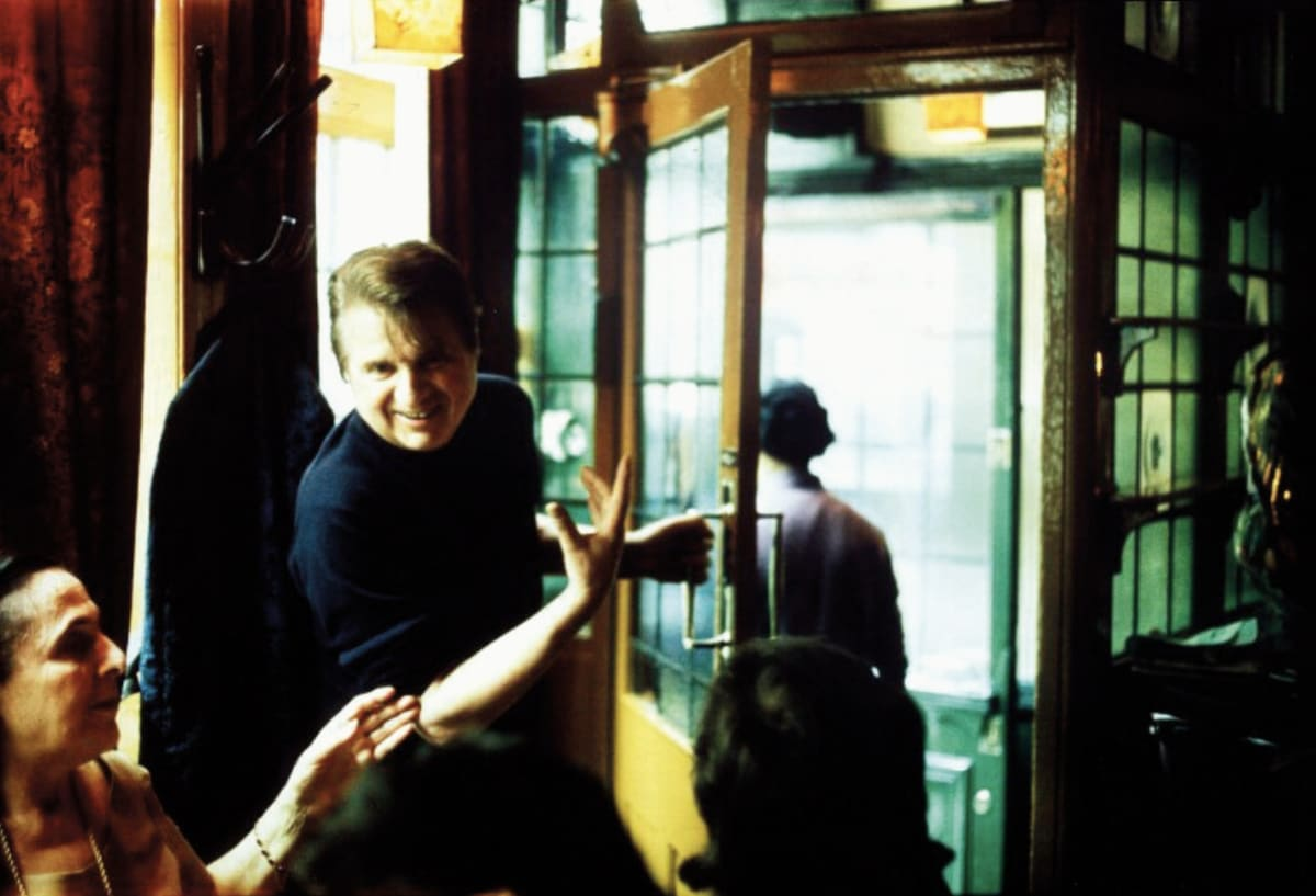 Muriel Belcher and Francis Bacon at Wheeler's in Soho in 1975, photographed by Peter Stark.